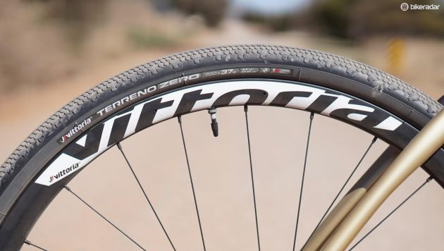 close up of a vittoria terrene zero tyre
