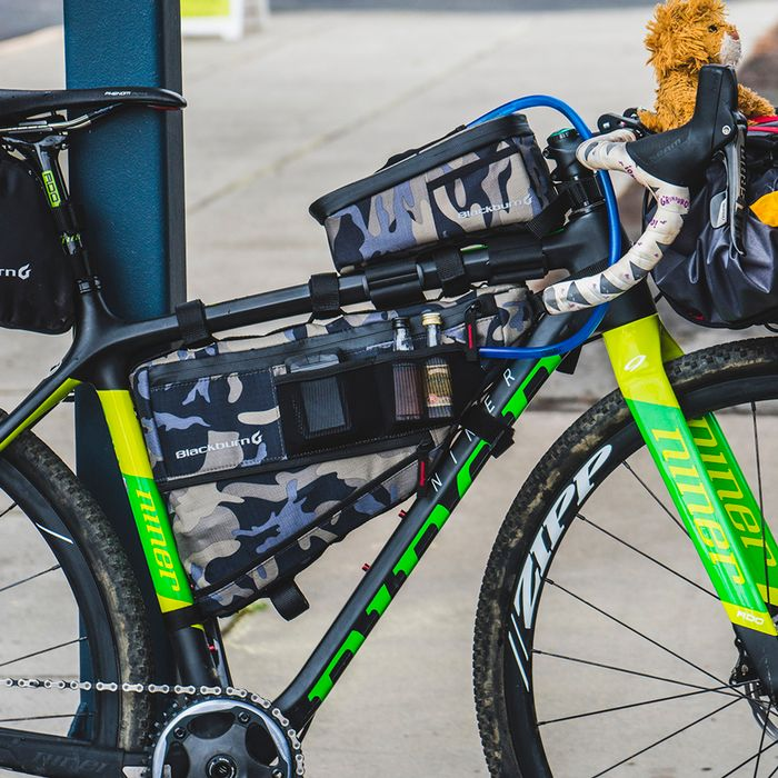 a bike full of camping gear